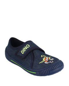 Hausschuh Dino dunkelblau 33