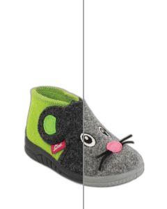 Kleinkind Filzhausschuh Mäuschen