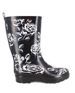 Damen Gummistiefel Black Roses